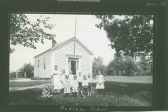 Broad view of Bedlam School #3, moved to Park St. Easthampton