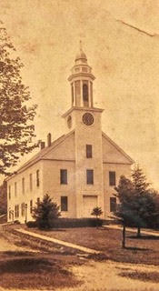 Images takes in 1836 of the First Congregational Church in Southampton.
