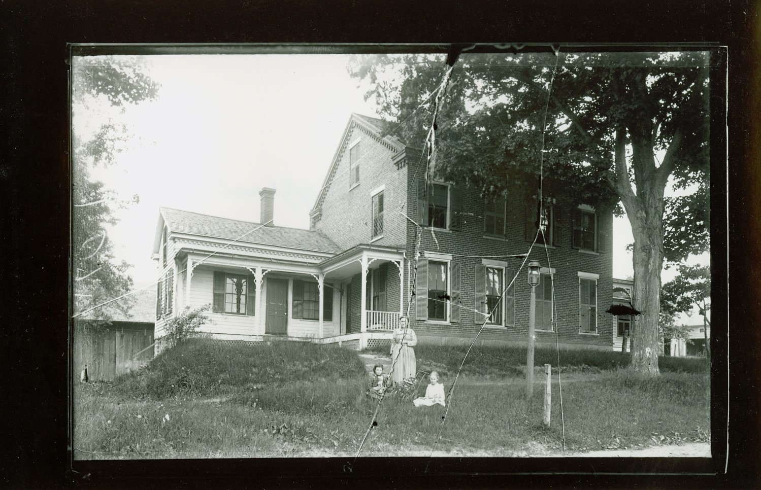 Fred Sherman-op. Library, 224 College Highway, burned 1915-rebuilt, 2-family house.